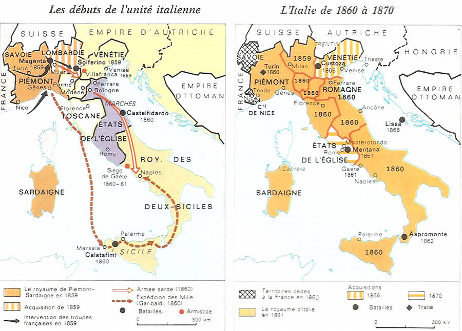 Carte royaume d'Italie